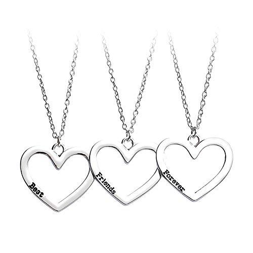 WPCASE Collar de la Amistad para 3 Collar de la joyería Collar para mamá Elegante Collar Collar de Collar de Moda Collar de la Suerte Hija Collares