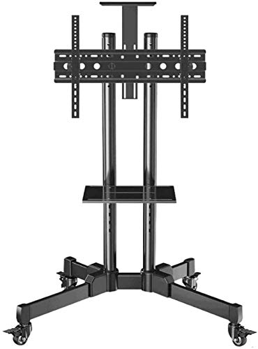 N/Z Home Equipment Swivel Table Top TV Stand Stainless Steel TV Floor Frame for 32 70 Inches TVs Black Tall TV Floor Stand s for Flat Screens on Whee