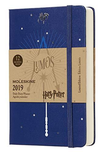 Moleskine 2019 Agenda Giornaliera Harry Potter 12 Mesi, in Edizione Limitata Tascabile, Blu