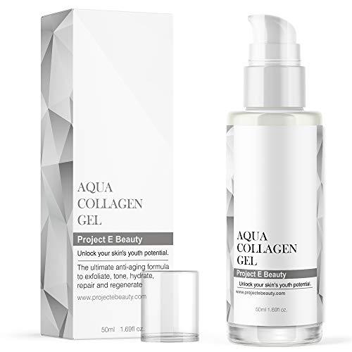 Project E Beauty Aqua Collagène Gel   Soin de la peau biologique naturel vitamine C visage yeux Anti-âge lifting raffermissant Lotion gel ionique sérum 50 ml 1.7 oz