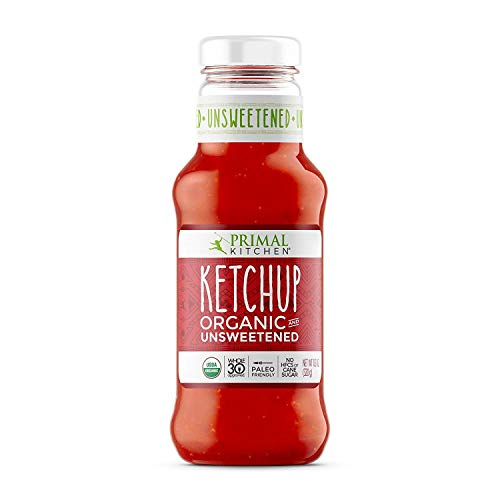 Primal Kitchen Organic Unsweetened Ketchup, Whole 30 Approved, Paleo & Keto Friendly (11.3 Ounce Bottle)   12 Pack
