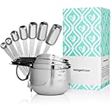 Morgenhaan Stainless Steel Measuring Cups and Spoons, Measuring Set of 13 Pieces: 7 Spoons and 6 Cups
