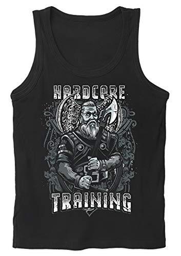 Uglyshirt89 Hardcore Viking Training Herren Tank Top | Wikinger Valhalla Ragnar Gym Sport (XL)