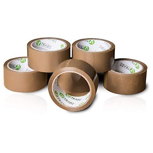 V1 Trade - Paketklebeband, Braun Klebeband Packband - SOLVENT Packtape (48 mm x 66 m (6 Stück))