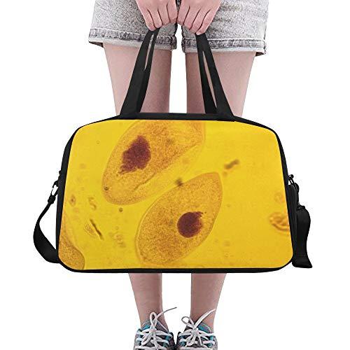 Zemivs Leben Ursprung Paramecium Große Yoga Gym Totes Fitness Handtaschen Reise Seesäcke Schultergurt Schuhbeutel Für Übung Sport Gepäck Für Mädchen Männer Frauen Outdoor
