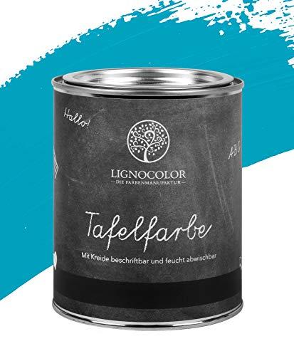 Lignocolor Tafelfarbe Tafellack echter Tafel-Look 750ml (Blue Lagoon 04)