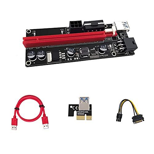 APKLVSR Riser 009S - Extensor PCIE Riser 16X de 6 pines USB...
