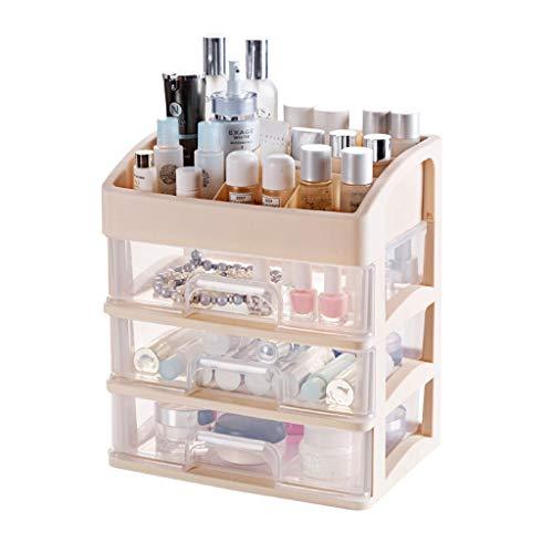 YNLRY Rack de cosmétique Desktop Manager Panier de Rangement de Maquillage Multifonctionnel Transparent Rack de Stockage de cosmétiques de Grande capacité (Color : Blue, Size : 27 * 19 * 31CM)
