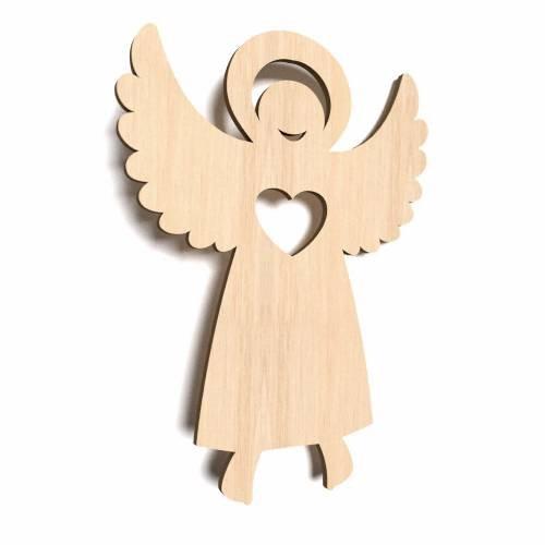 10x Engel Schutzengel blank Form Bemalen Basteln Dekoration Anhänger Kleben Schenken
