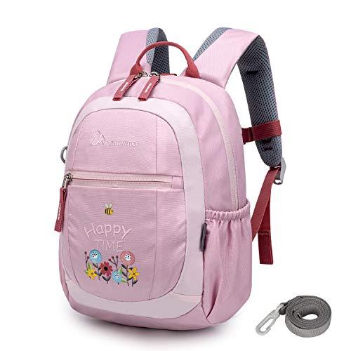 MOUNTAINTOP 4.5L Mini Backpack Kinder Kleinkind Rucksack mit Anti-verlorene Bügel,Brustgurt,Namensschild für Baby Kleinkinder, 24 x 9.5 x 31CM