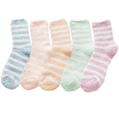 FGFDHJ Calcetines Bonitos de Felpa de algodón para Mujer