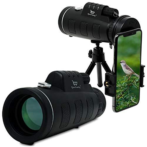 TLgf Monoculaire lentille de téléphone 40X60 Haute liste Jumelles pour l'observation des Oiseaux, Voyage de Camping, Animaux Sauvages, léger et Portable Sports de Plein air Essentiel