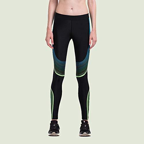 Fitnessbroek voor dames, compressie, elastisch, panty's, sport, hardloopbroek, gym, slim, leggings
