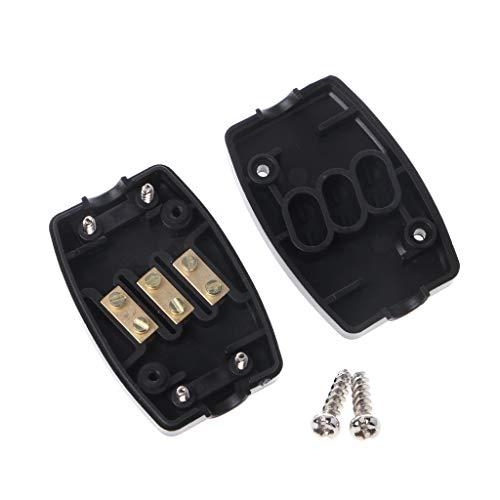 Rtengtunn 13A Conector en línea Caja 3 Terminal Unir Cable Flexible Cable...
