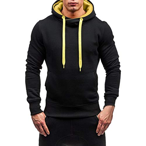 CICIYONER Tops für Männer, Herren Herbst Winter Solide Mit Kapuze Sweatshirt Outwear Oberteile Bluse