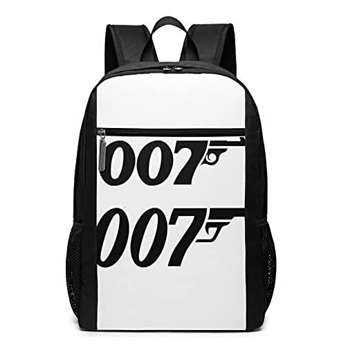 James Bond 0-0-7 Zaino da viaggio per computer portatile Anti furto Impermeabile Zaini Scuola Computer Bookbag