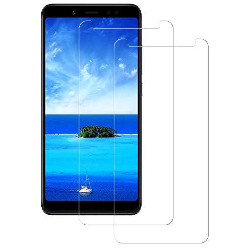 Aspiree Cristal Templado Xiaomi Redmi Note 5,[2-Unidades] Protector de Pantalla para Xiaomi Redmi Note 5 [Alta Definicion, 9H Dureza, Resistente a Arañazos]
