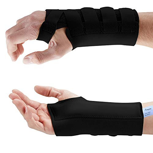 Actesso Neopren Handgelenkschiene - Karpaltunnel Schiene für Handgelenkschmerzen, Karpaltunnelsyndrom, Zerrungen, Handgelenkfrakturen und Arthritis (Groß, Schwarz Rechts)