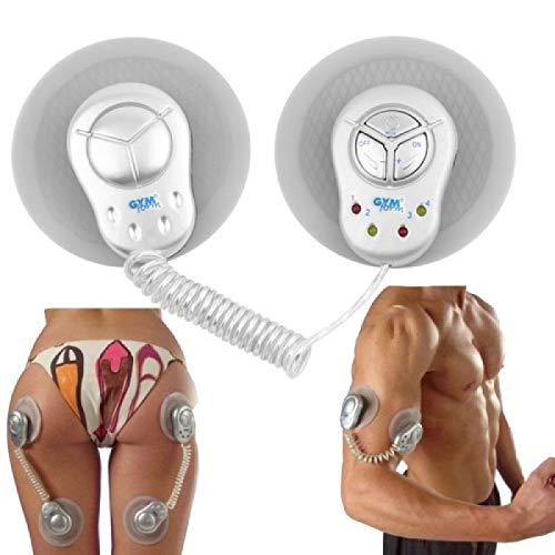 Forme de gym Duo Electronic Muscle Toner Fitness System Massager Body/Unisexe Système de stimulation musculaire sans fil (A