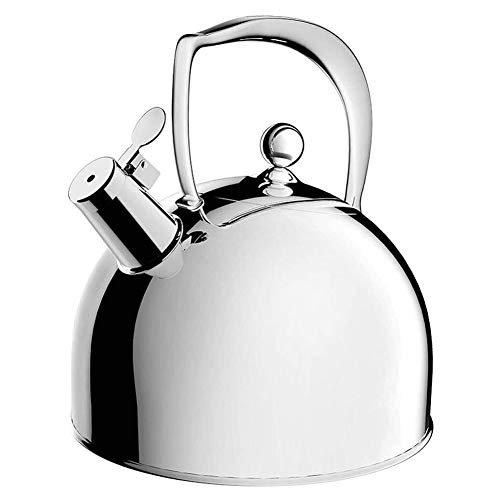 Tea Kettle Whistling Stovetop Kettles 3 Liter Induction Whistling Tea Kettle 304 Stainless Steel Stovetop Kettles Tea Water Pot With Grip Handle & Matt Finish Household Flat Bottom Gas Kettles Tea Ket