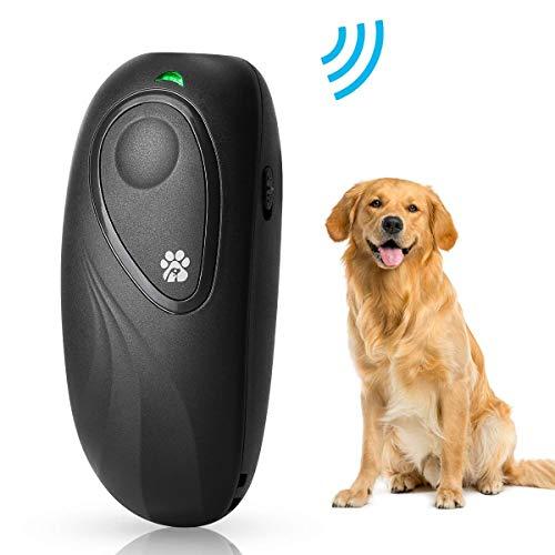 OYEFLY Anti-Bellen-Gerät, Ultraschall-Hundebellen - Sichere und Schmerzfreie Hunderkontrolle für den Innen- und Außenbereich - Halsband Hundetraining Controller Anti-Statik (Schwarz)