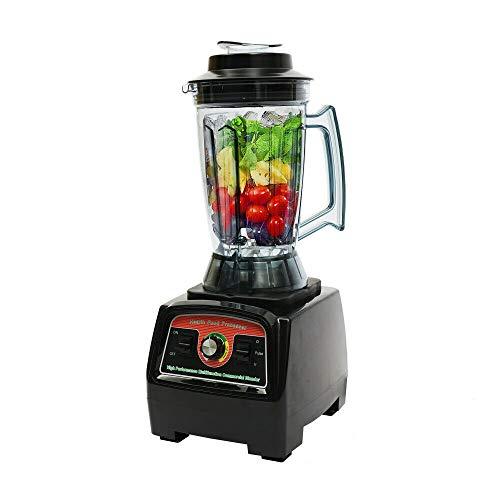 Licuadora de acero inoxidable de 3,9 l, batidora de alto rendimiento, 2 en 1 cuchillas, sistema de conexión de metal para diferentes frutas, verduras, cereales