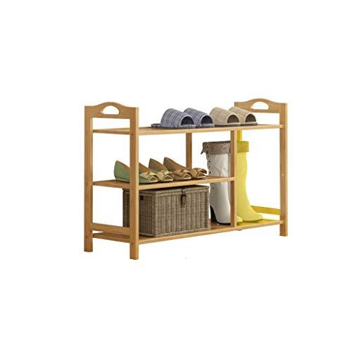 HYY-YY Estante moderno minimalista para zapatos para el hogar asequible dormitorio marco Hall entrada porche cuatro pisos zapatero 90x26x53cm