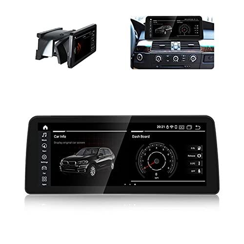 wansosuper Autoradio Navegador por Satélite para B-m-w E60 2004-2011, Sistema CCC/Cic, Android10.0, 12,3 Pulgadas Haga Su Viaje Más Seguro,CIC