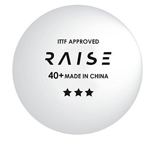 Pelotas de Tenis de Mesa RAISE 3 estrellas 40+ ITTF blancas, pack 6 pelotas
