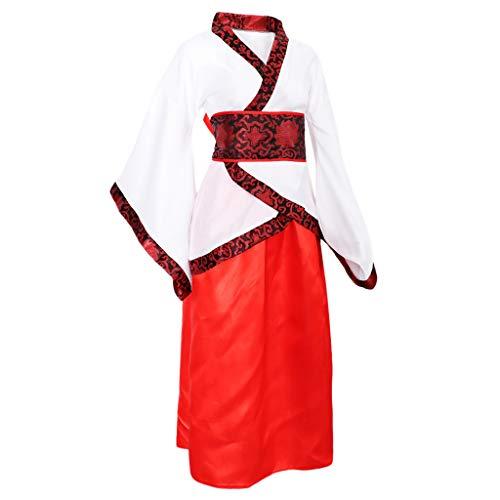IPOTCH Damen China Traditionelle Kleidung Fernöstliche Bekleidung für Performance Karneval - M