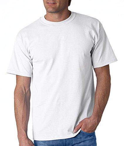 Gildan - Camiseta básica de manga corta Modelo Ultra Cotton para hombre caballero (5XL/Blanco)