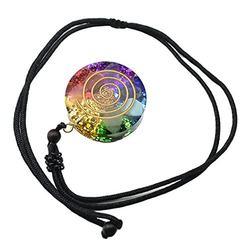 F Fityle Colorido 3,5 cm Retro Reiki Orgone Colgante Generador Cable de Cuello Ajustable para consolación Espiritual Autoconsolación Autodescubrimiento
