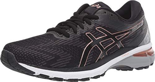 ASICS Women's GT-2000 8 Running Shoes, 9.5, Black/Rose Gold