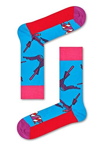 Happy Socks Bunte Socken aus Baumwolle, limitierte Auflage, für Damen & Herren, in Zusammenarbeit mit Prominenten Gr. L, love