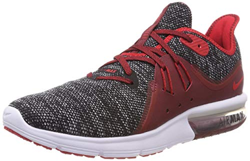 Nike Men's Air Max Sequent 3 Running Shoes (8.5 D US, Black/Red/White)
