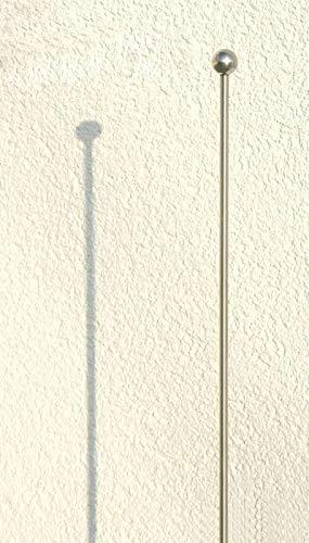 BlackOrange Premium Rankstab gerade mit Kugel 130 cm aus hochwertigem Marine Edelstahl als Rankhilfe für Stauden etc. und als Futterstab für Vögel