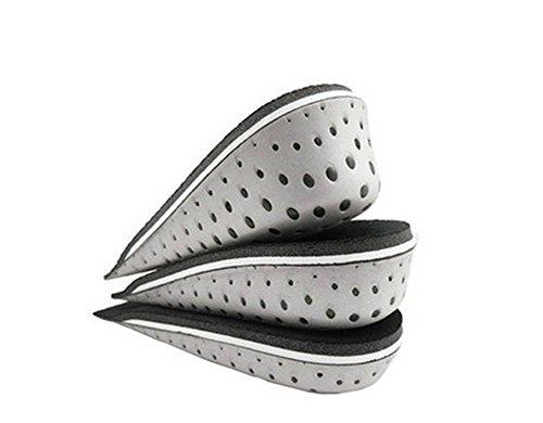 erioctry - Soletta traspirante in memory foam per aumentare l'altezza, con inserti per sollevamento talloni, sollevatori per scarpe e scarpe, per uomo e donna (1 paio) (altezza 3,3 cm)