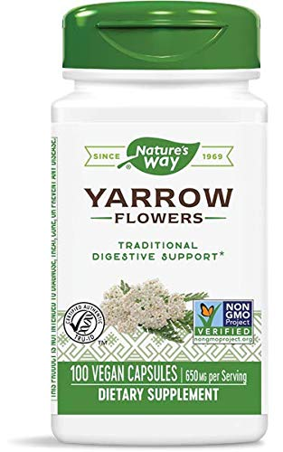 Nature's Way Yarrow Flowers, 100 Capsules (Pack of 4)