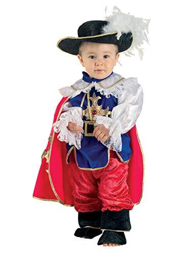 Clown Republic- Petit Mousquetaire Costume, CS24112/12, Multicolore, 12 Mois