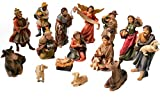 "Faithful Treasure 15-Piece Nativity Figurine Set. Hand-Painted Christmas Nativity Scene, 4"" Tall."