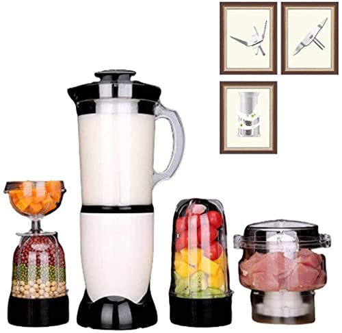 HYLK Blender And Food Processor, Power Grinder With Stainless Steel Blades Milkshake And Smoothie Maker Ice, making smoothies, protein shakes and more,5 cups 5 knife strainer