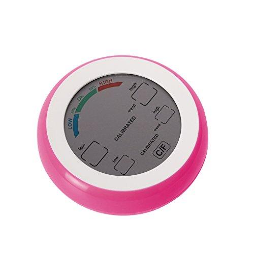 ELENXS Thermomètre numérique hygromètre ° C / ° F Température Humidité hygromètre compteur, affichage numérique max Valeur min Tendance