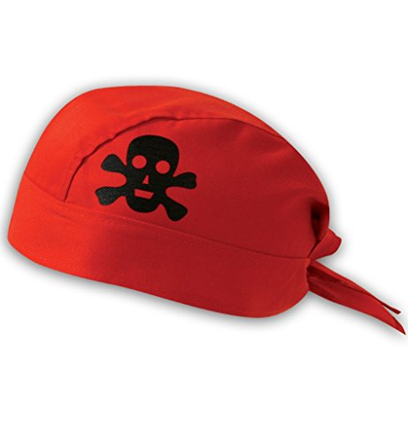 Bandana de pirate, des couleurs assorties, halloween, carnaval, accessoire (rouge)