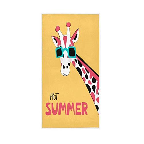 SZBNIZAINAOI Toallas de mano de jirafa, suaves, muy absorbentes, grandes, de 15.7 x 27.5 pulgadas, toalla de baño multiusos para cara, baño, gimnasio, hotel, spa