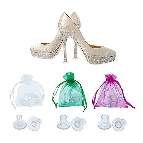 4 paar hak hoge hak beschermer schoenen stopper cover Savers Stiletto voor race bruiloften formele gelegenheden