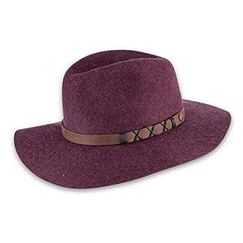 pistil Women s Soho Felt Wide Brim Hat Plum One Size