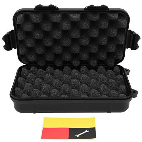Mini estuche de almacenamiento, Yevenr 2 piezas Caja de herramientas Caja de supervivencia a prueba de golpes Caja de herramientas negra Caja de sellado impermeable para exteriores(XL)