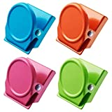 4Pack Magnetic Metal Clips Refrigerator Whiteboard Wall Fridge Magnetic Memo Note Clips Magnets Metal Clip