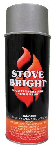 Forrest Paint 6193 1200 Wood Stove High Temp Paint - Metallic Gray