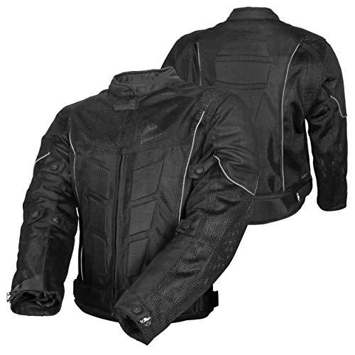 Chaqueta masculina para moto, tejido de malla, para el verano, protección CE, color negro